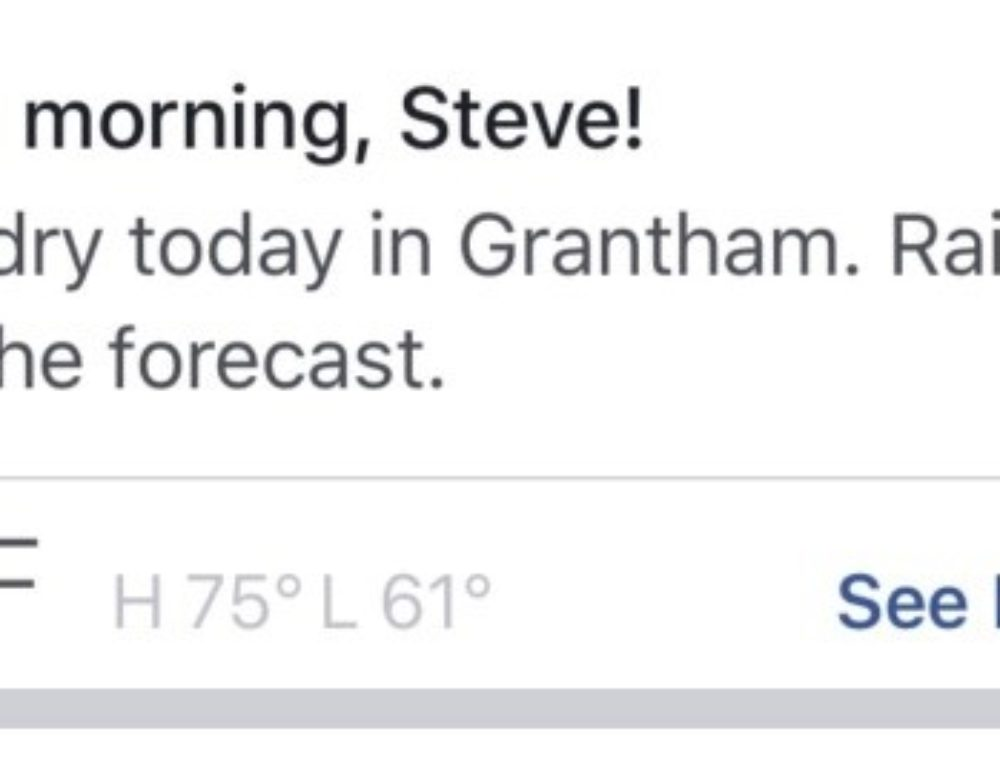Facebook is About to Eat Your Weather Lunch